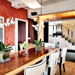 Philadelphia architectural photographer Penthouse Dining room architectural photo